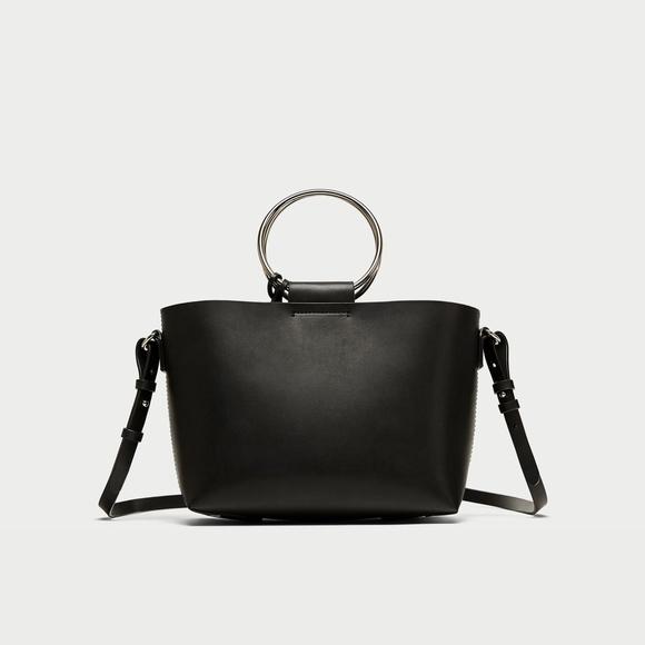 38700f34b9 Zara Mini Tote Bag with Metal Handles